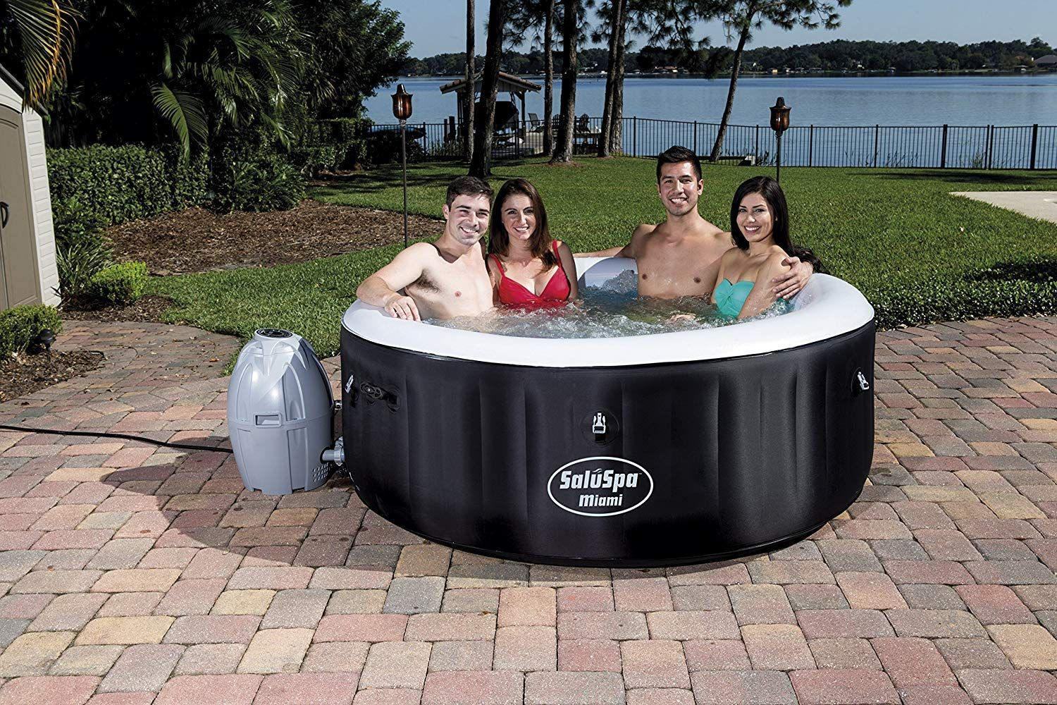 10 Best Inflatable Hot Tub Reviews In 2020 With Images Hot Tub Outdoor Inflatable Hot Tub Reviews Outdoor Spas Hot Tubs