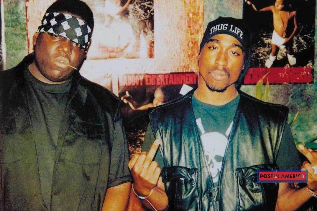 Tupac Notorious B I G Biggie Smalls Poster 24 X 36 Tupac And Biggie Tupac Photos Tupac