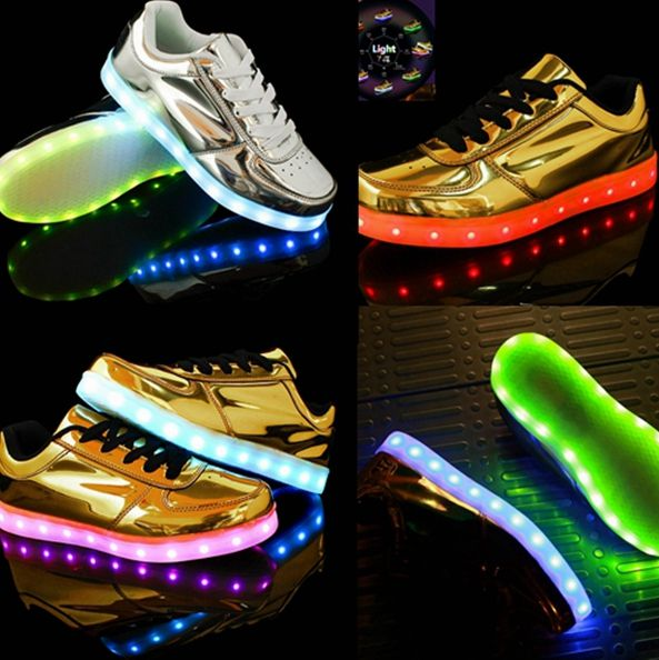 best service 20a0f e50d7 So slight about the LED mirror shoes,right leather shoes for the New  Year,USB recharged !Both for Men and Women