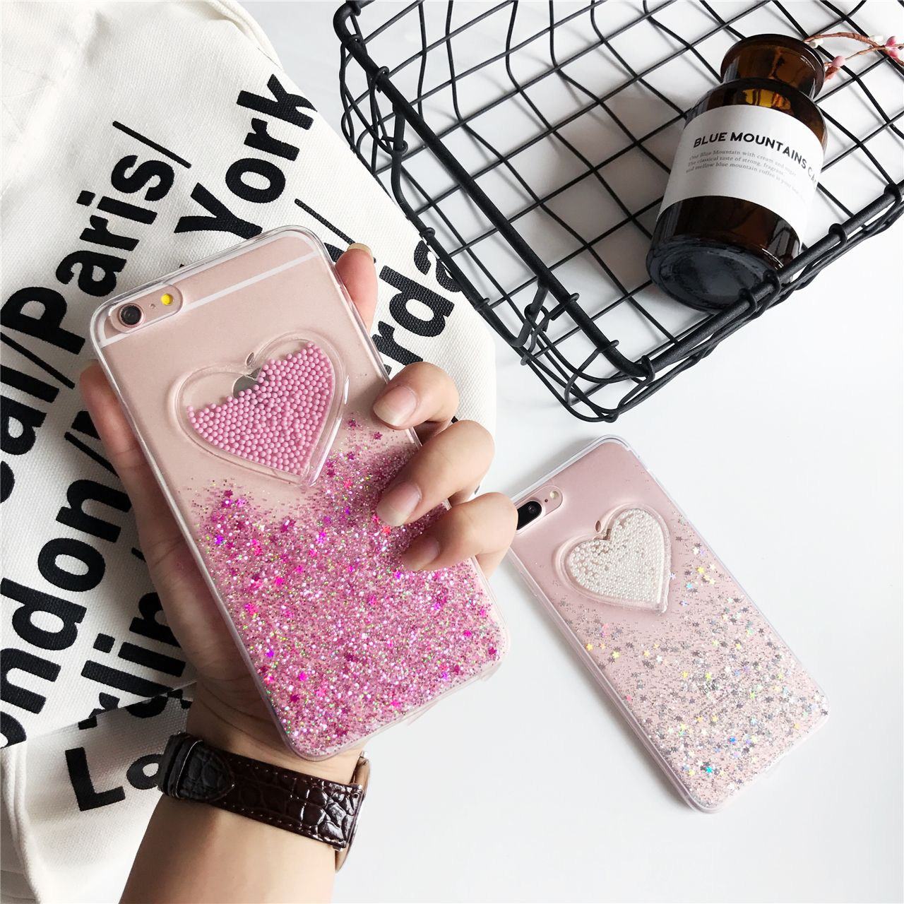 >> Click to Buy << Korean girl pink heart love Case For iPhone 7 7Plus quicksand Case For iPhone 6 6S Plus 6Plus Capa Fundas female gift cover #Affiliate