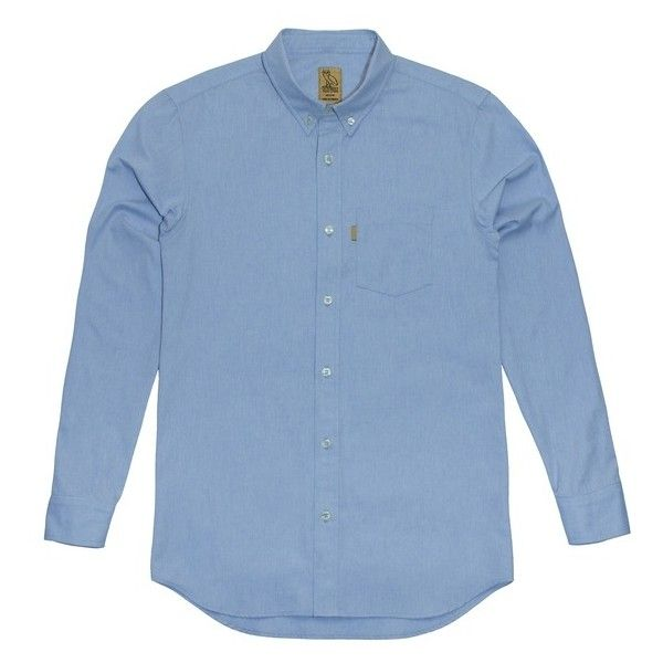 43148a5c9f OVO Oxford BUTTON DOWN COLLARED SHIRT October's Very Own ($132) ❤ liked on  Polyvore featuring tops, button down collar shirts, blue oxford, blue shirt,  ...