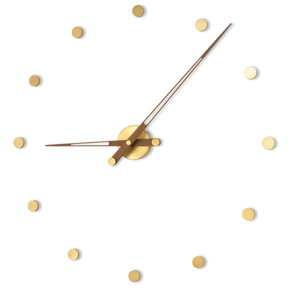 Rodon G Wall Clock By Nomon Rod012n In 2021 Gold Wall Clock Contemporary Wall Clock Wall Clock