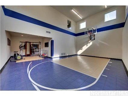 Indoor basketball court with workout area North Oaks MN