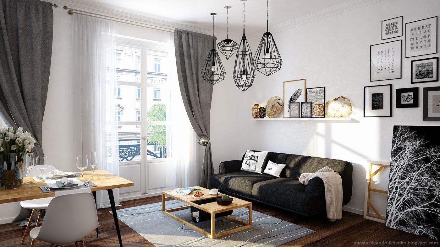 Un rideau tamisant ou occultant gris pour peaufiner sa déco cosy scandinave,  on adore !