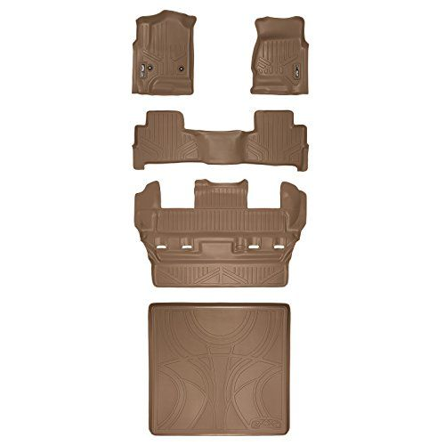 Maxfloormat Floor Mats 3 Row Set And Maxtray Cargo Liner Behind Second Row Tahoe Yukon 20152017 Tan Check This Awesome Produ Cargo Liner Chevrolet Tahoe Gmc