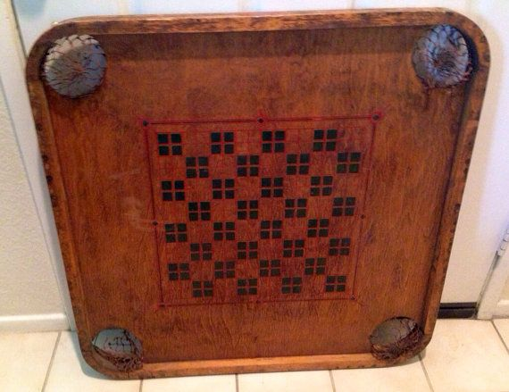 Carrom Game Board 1900 by GoPlethora on Etsy, $100.00