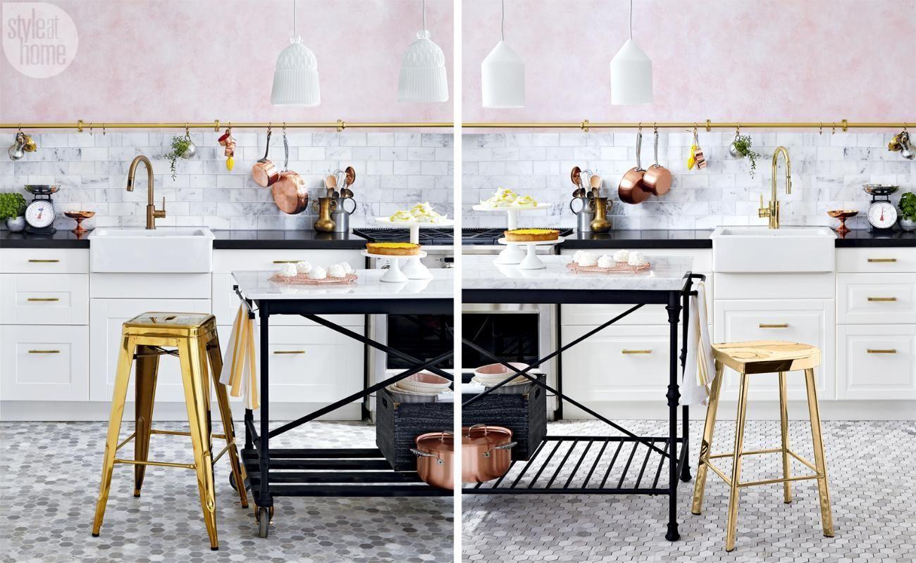 Highlow parisianstyle kitchen parisians kitchen styling and