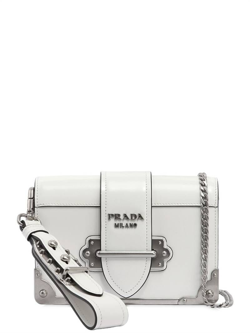 a3facdd2b90a3d ... discount code for prada small cahier polished leather bag white bb14f  8c66d