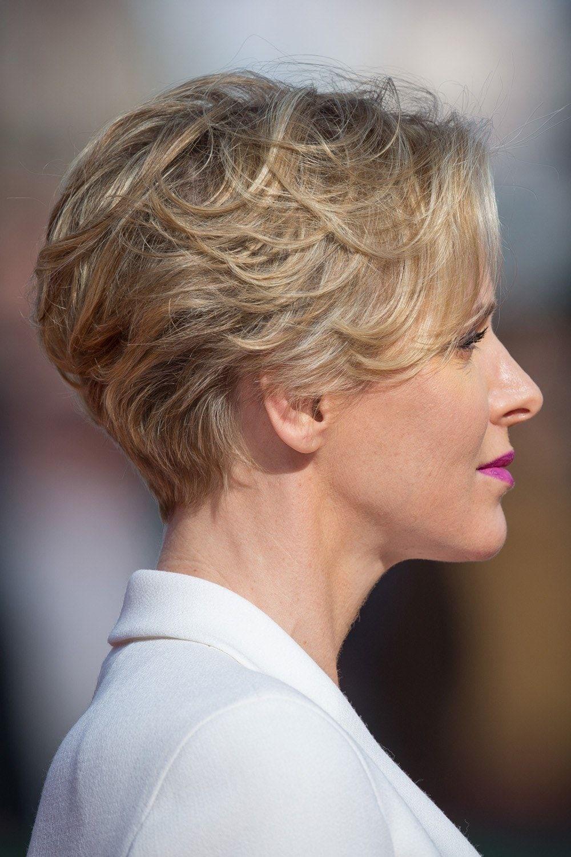 Styling für kurze Haare: Fürstin Charlène: neue Frisuren  Vogue