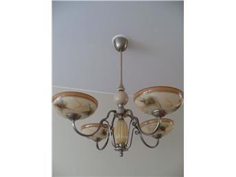 Vacker Art Deco Lampa Taklampa Med 4 Armar 30 Talet Fin Skick Taklampa Lampor Deco