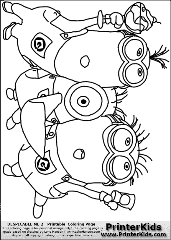 Minions coloring pages peace minion ~ purple minion coloring pages | Despicable Me 2 - Minion ...