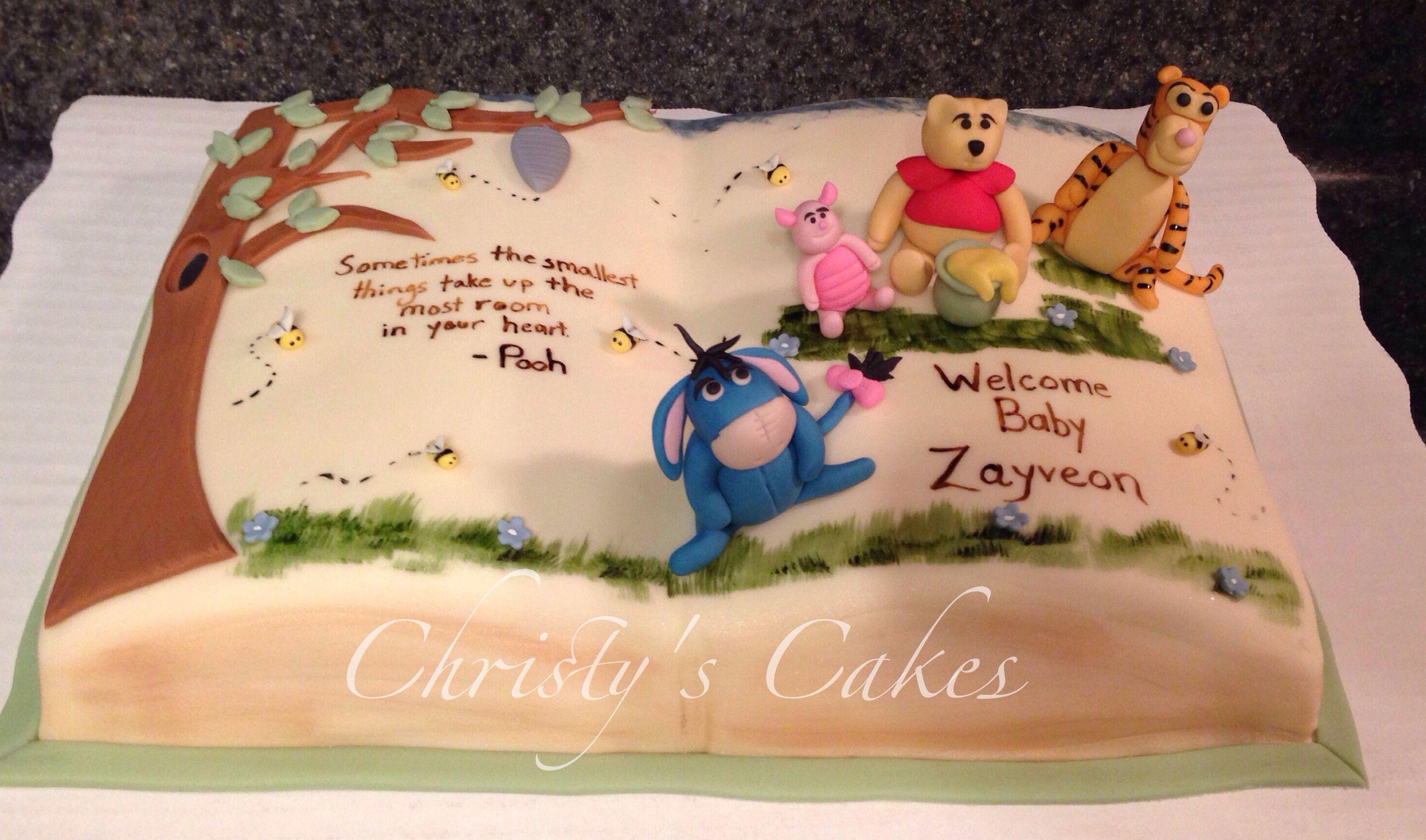 winnie the pooh cake baby shower cakes i create pinterest