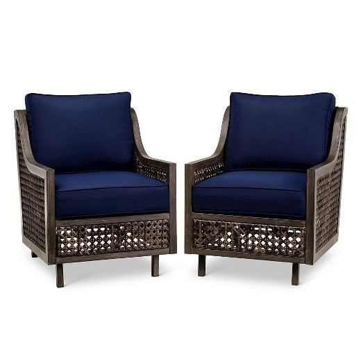 Fabron 2 Pack Wicker Motion Club Chair   Threshold™