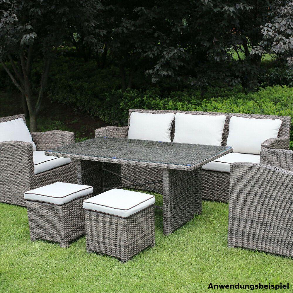 Sitzgruppe Lacona 7 Sitzer Polyrattan Grau Helle Polster Gartenm Ouml Bel In 2021 Garten Sitzgruppe Polyrattan Sitzgruppe Polyrattan