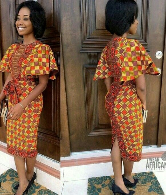 robe en wax mode afro pinterest robe pagne robe et mode africaine. Black Bedroom Furniture Sets. Home Design Ideas
