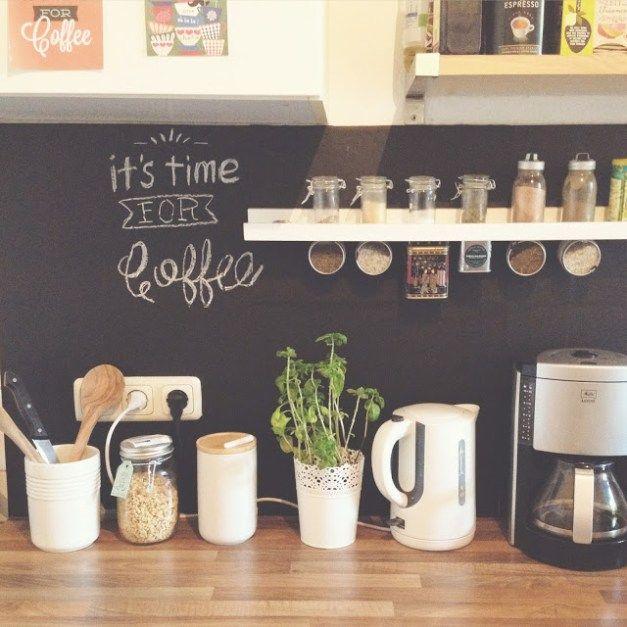 DIY wohnen Tafelwand für die Küche mit Tafelfolie Basement - küchenwände neu gestalten