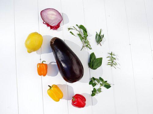 grilled veggie orzo salad