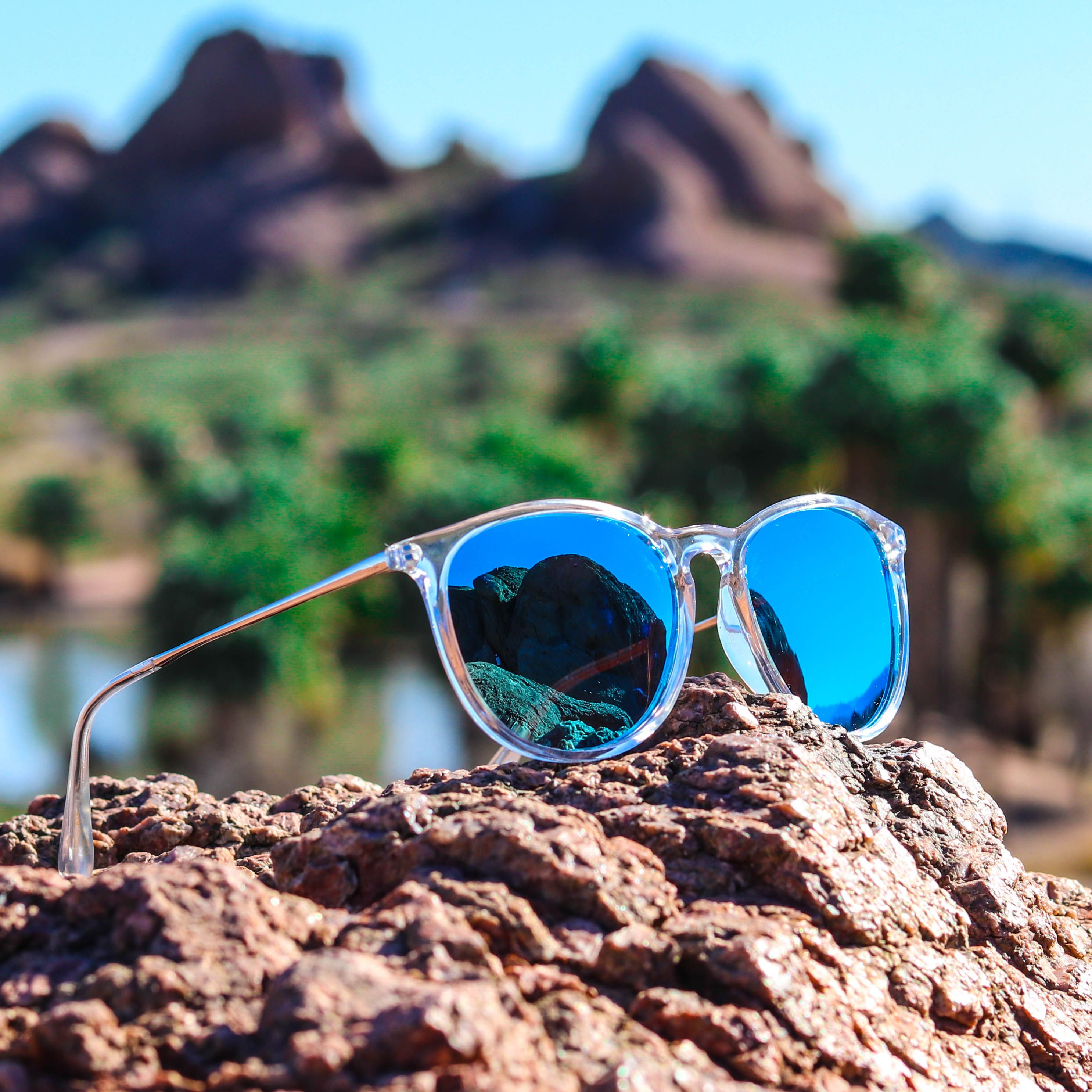 6de18a70137 Drew Round Polarized Classic Unisex Metal Temple Sunglasses in 2019 ...