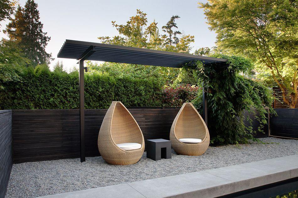 Un Salon De Jardin Sympa Pour Une Ambiance Estivale Agreable Jardin Minimaliste Amenagement Paysager Salon De Jardin