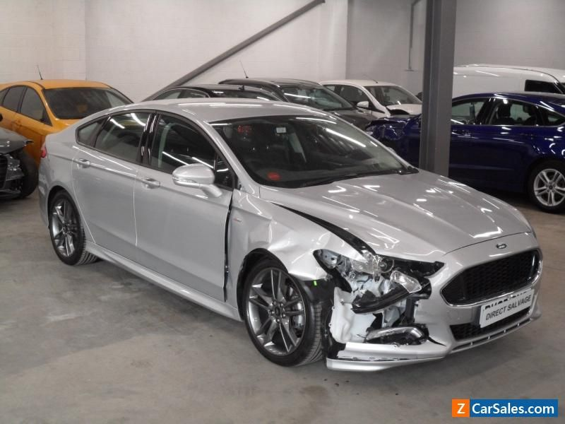 Car For Sale 2017 67 Reg Ford Mondeo St Line 2 0 Tdci Silver Salvage Damaged Repairable