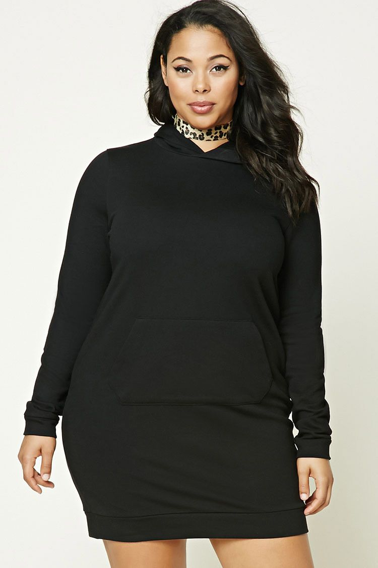Forever a french terry knit sweatshirt dress featuring a