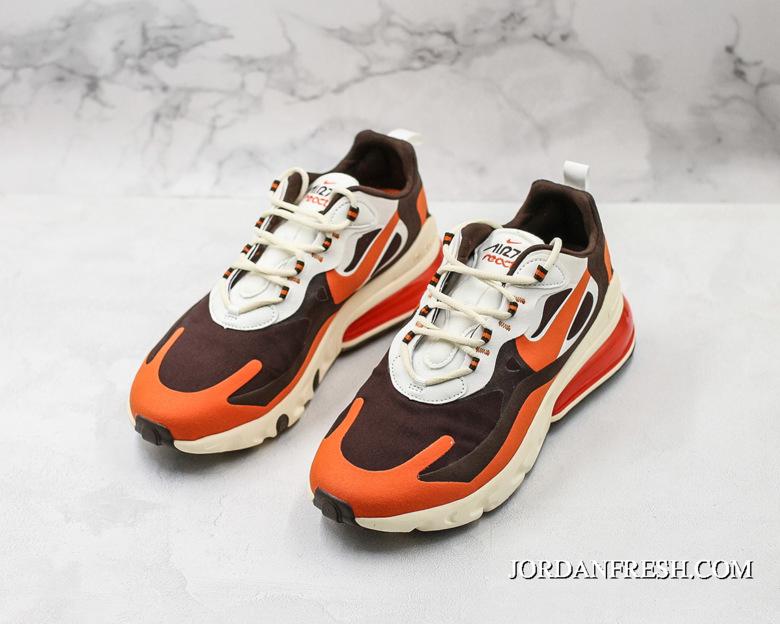 factory price first rate watch Women/Men Travis Scott X Nike Air Max 270 React Light Cream ...