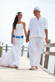 Ropriate Mens Beach Wedding Attire For A Casual Is This White Linen Tunic