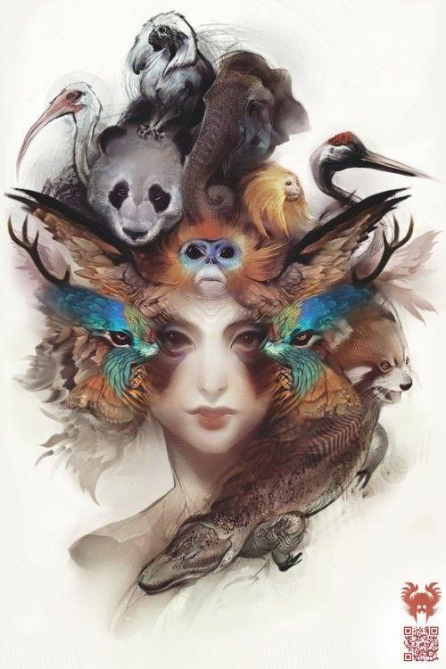 Animal goddess