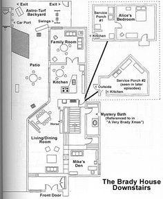Brady Bunch house floor plans
