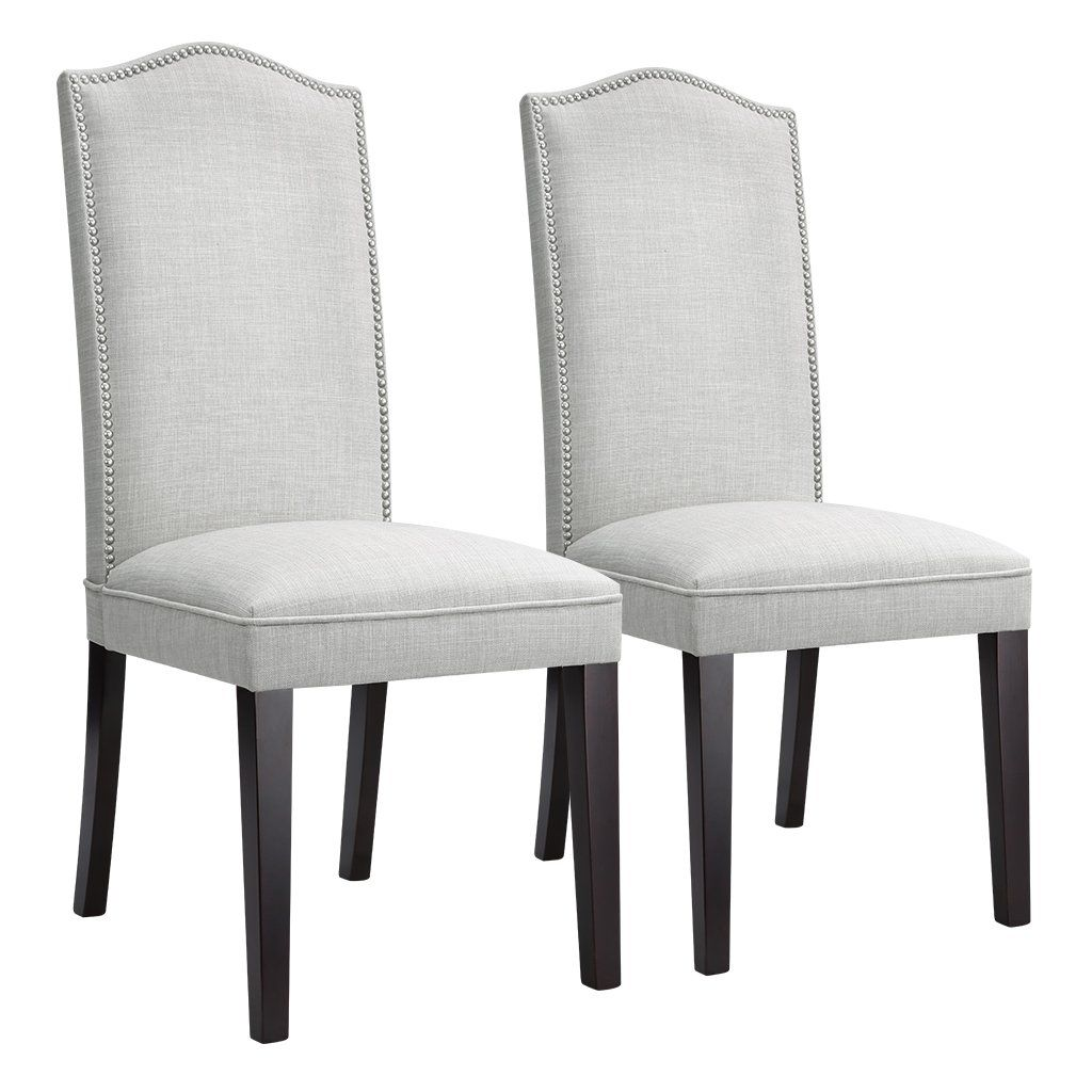 Langria Modern Dining Chairs Faux Linen Upholstered Dining Room