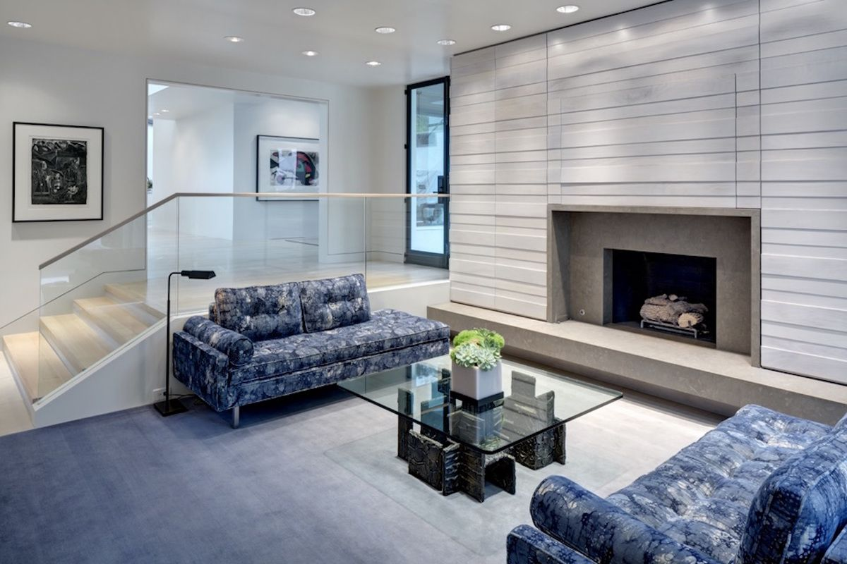 Contemporary Living Room in Dallas, TX by Emily Summers ...