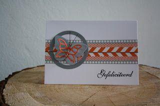 Ant's kaartjes: Vlinder.  Een vrolijk kaartje met mooie kleuren Wa...
