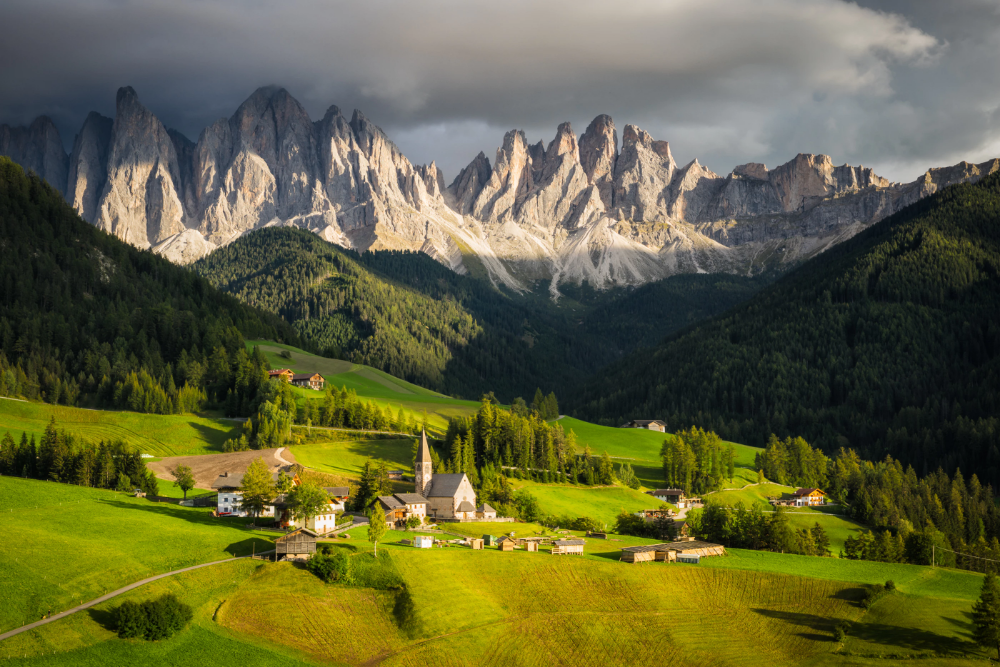 Photograph Santa Maddalena Church in the Dolomites
