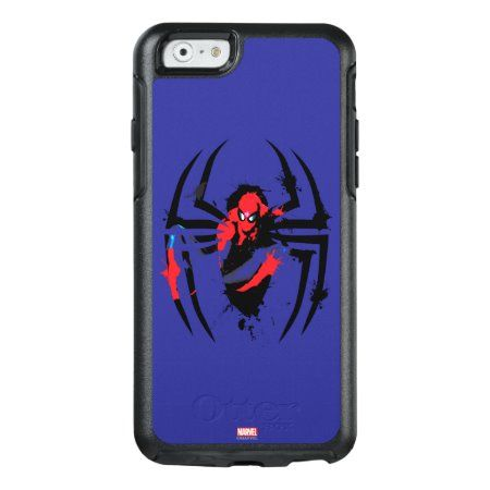 Spider-Man in Spider Shaped Ink Splatter OtterBox iPhone 6/6s Case - tap, personalize, buy right now! #OtterBoxiPhone66sCase  #spiderman #spider #man #ink #splatter