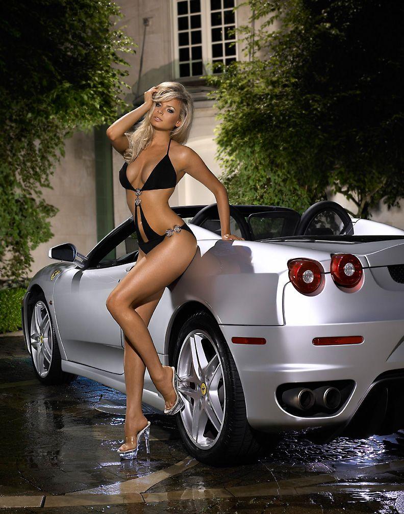 in car sports girl Bikini