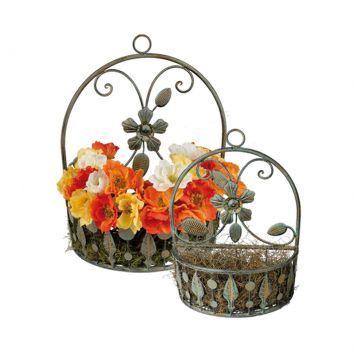 Conjunto De Floreiras Para Parede - 2 Peças