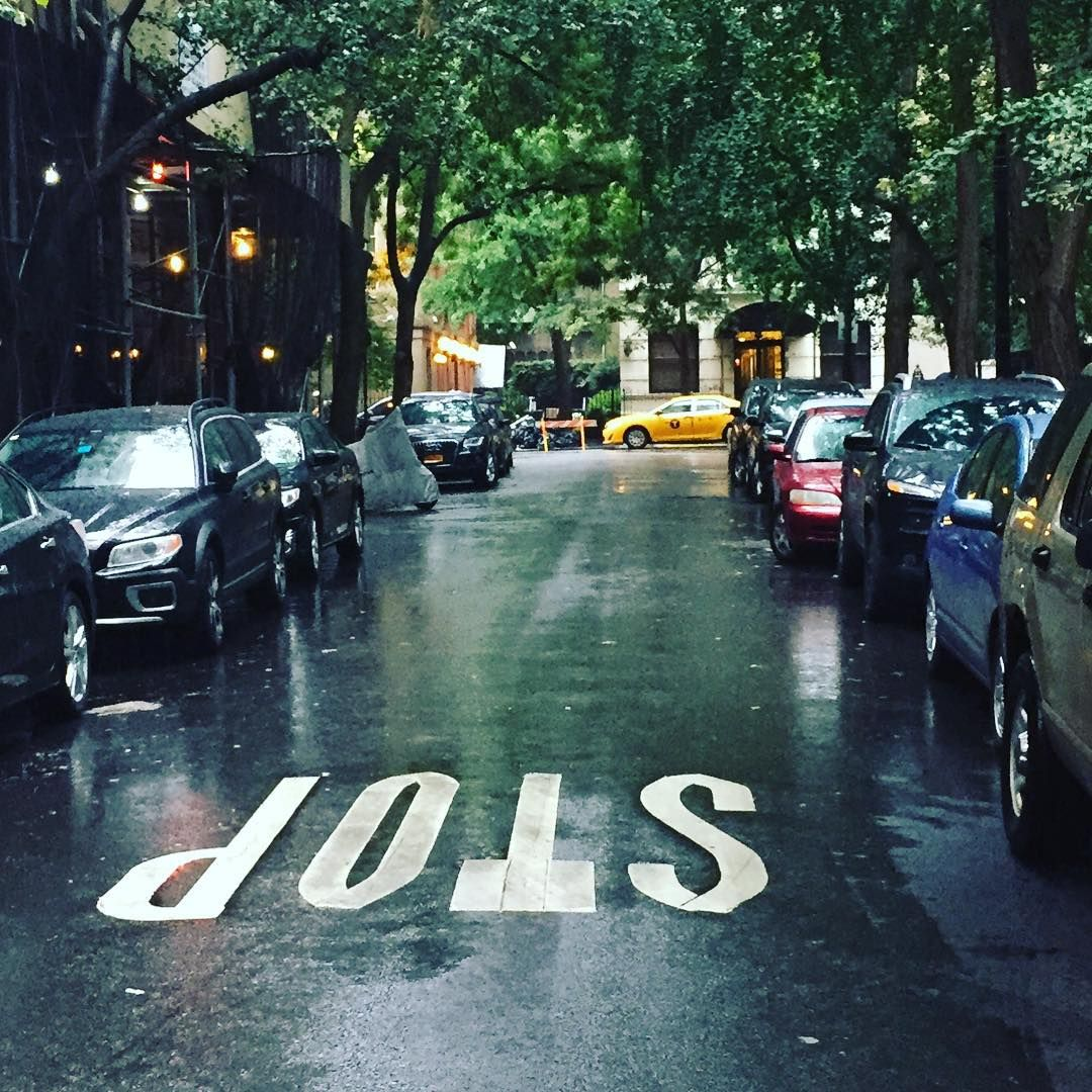 """""""Rainy day in big apple #againsttype"""""""