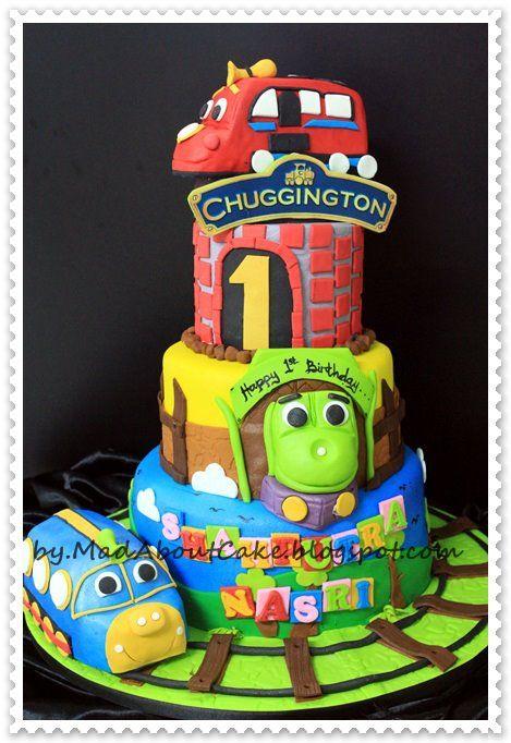 chuggington awesome cake My son Pinterest Cake Birthdays and