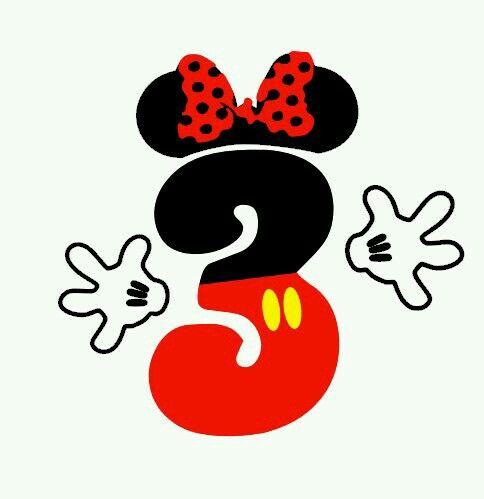 Número 3 Minnie mousse | ABECEDARIO,LETRAS | Pinterest ...