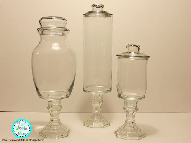 diy dollar tree apothecary jars, bathroom ideas, crafts, how to