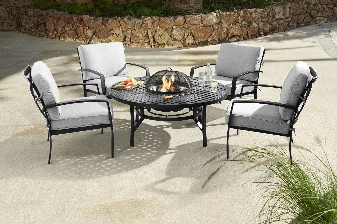 Wondrous Jamie Oliver Contemporary 4 Seater Fire Pit Set Riven Download Free Architecture Designs Intelgarnamadebymaigaardcom