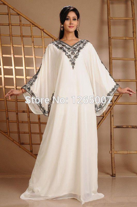 2015 V Perles Cher Neck Soirée Longue Pas Robe Caftan Dubaï De CxeordBW