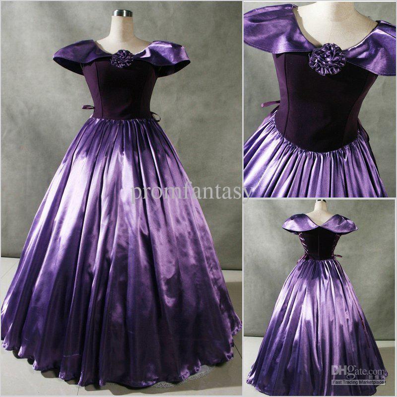 2017 Custom Made New Patrician Purple Cap Sleeves Gothic Lolita ...