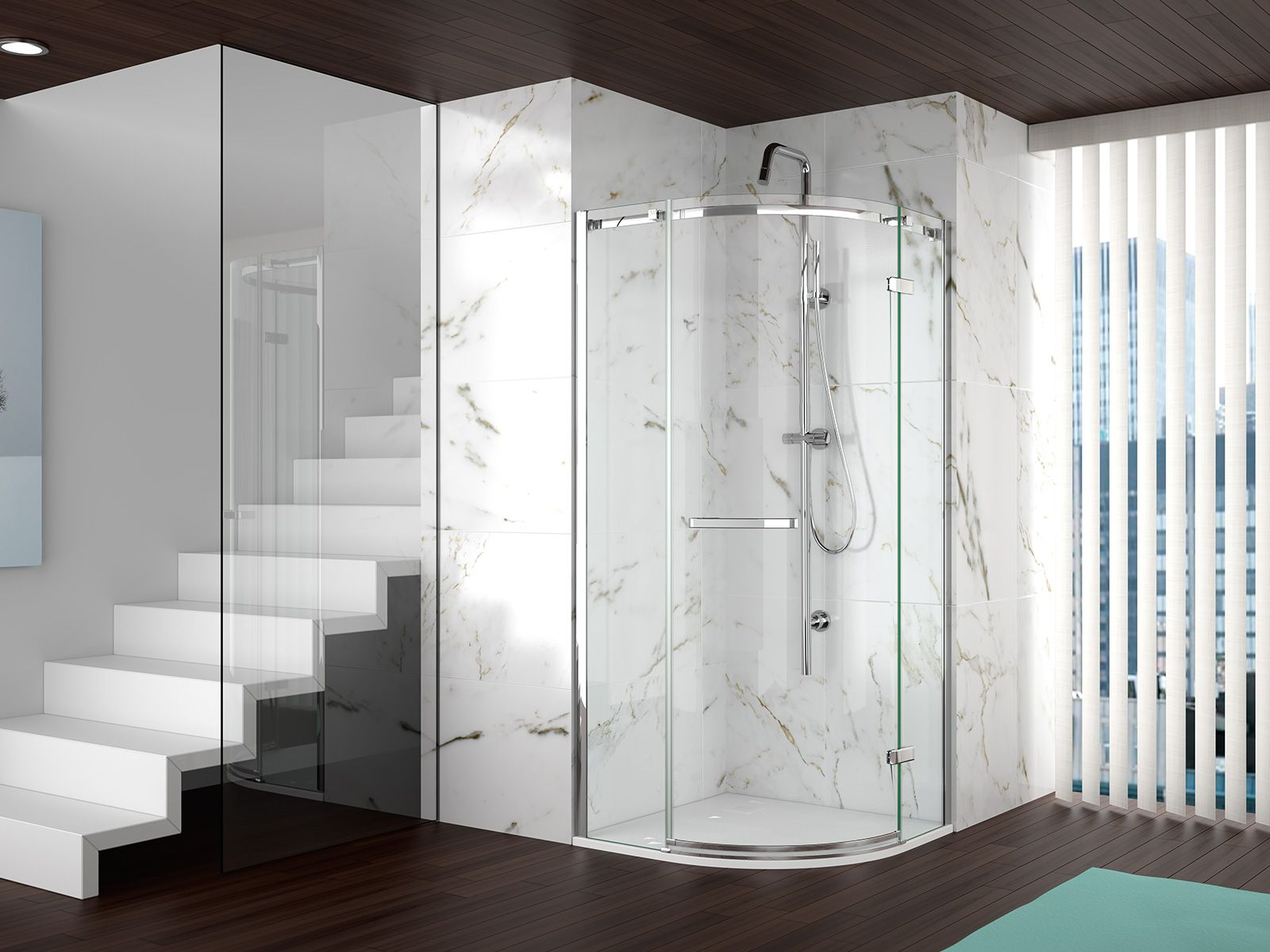 8 Series Frameless 1 Door Quadrant | Pinterest | Bath screens ...
