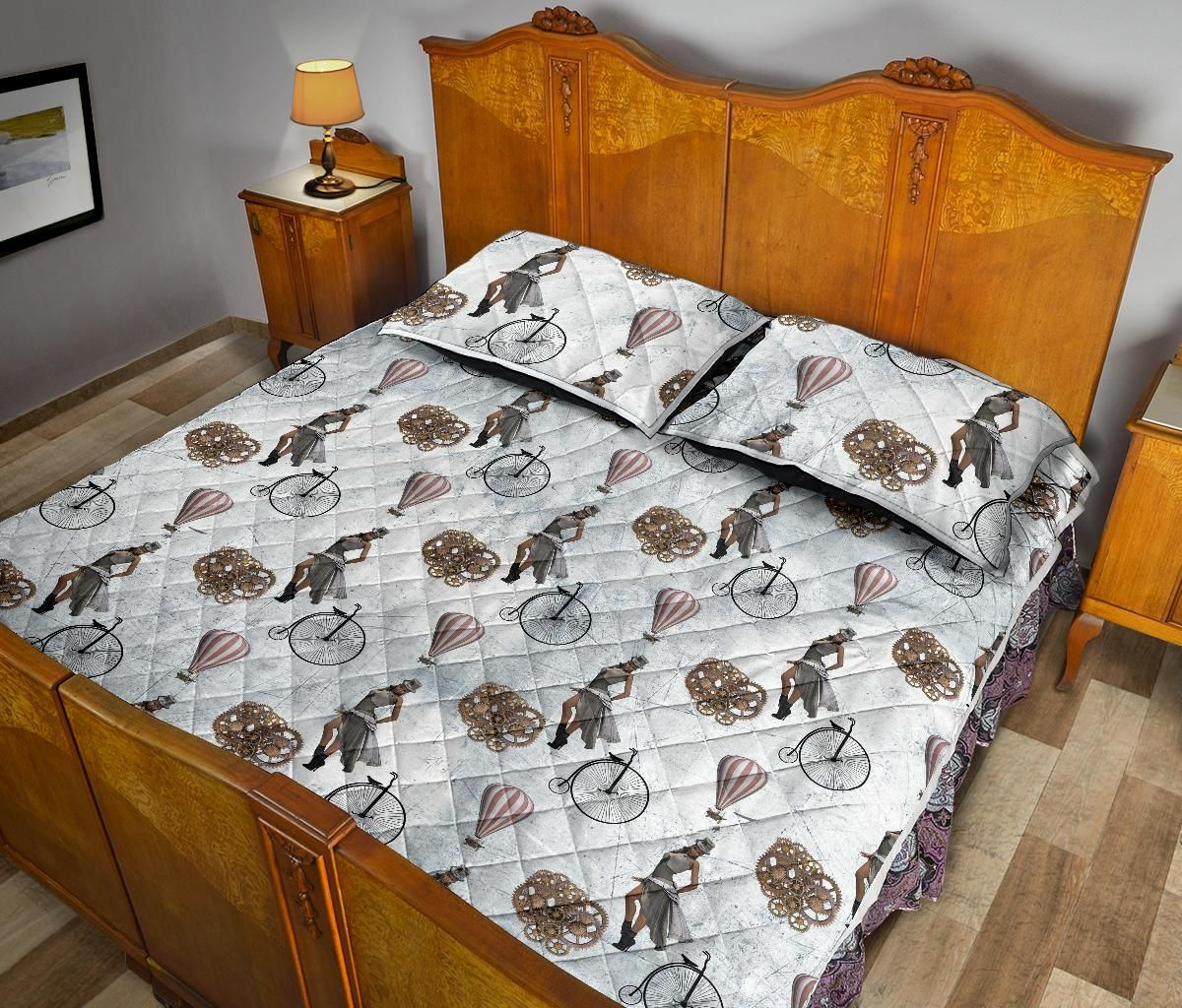 Comfort Quilt Bed Set Collection Steampunk 04 - Quilt Bed Set - Comfort Quilt Bed Set Collection Steampunk 04 / Queen