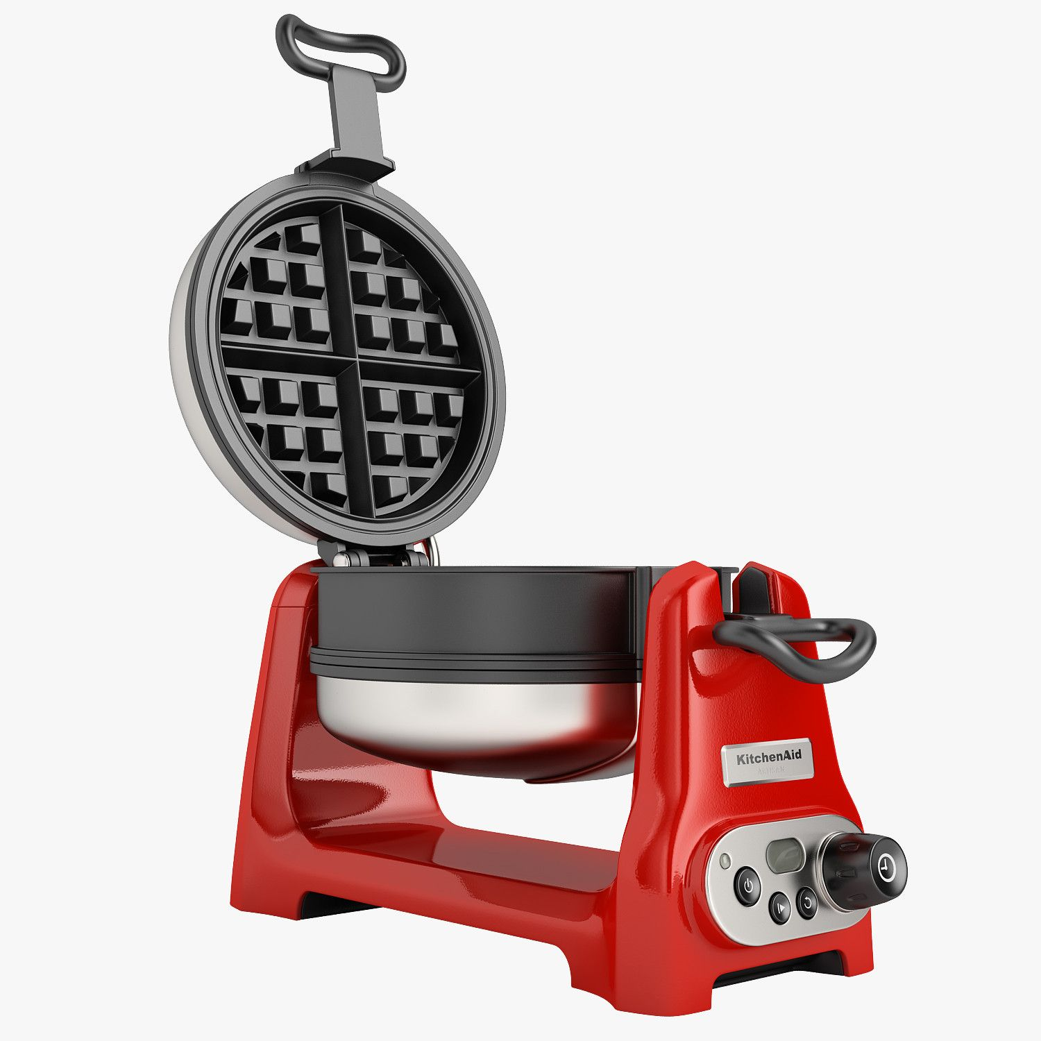 kitchenaid artisan waffle iron 02 model available on turbo squid the worlds leading provider of digital models for visualization films television - Kitchen Aid Waffle Makers