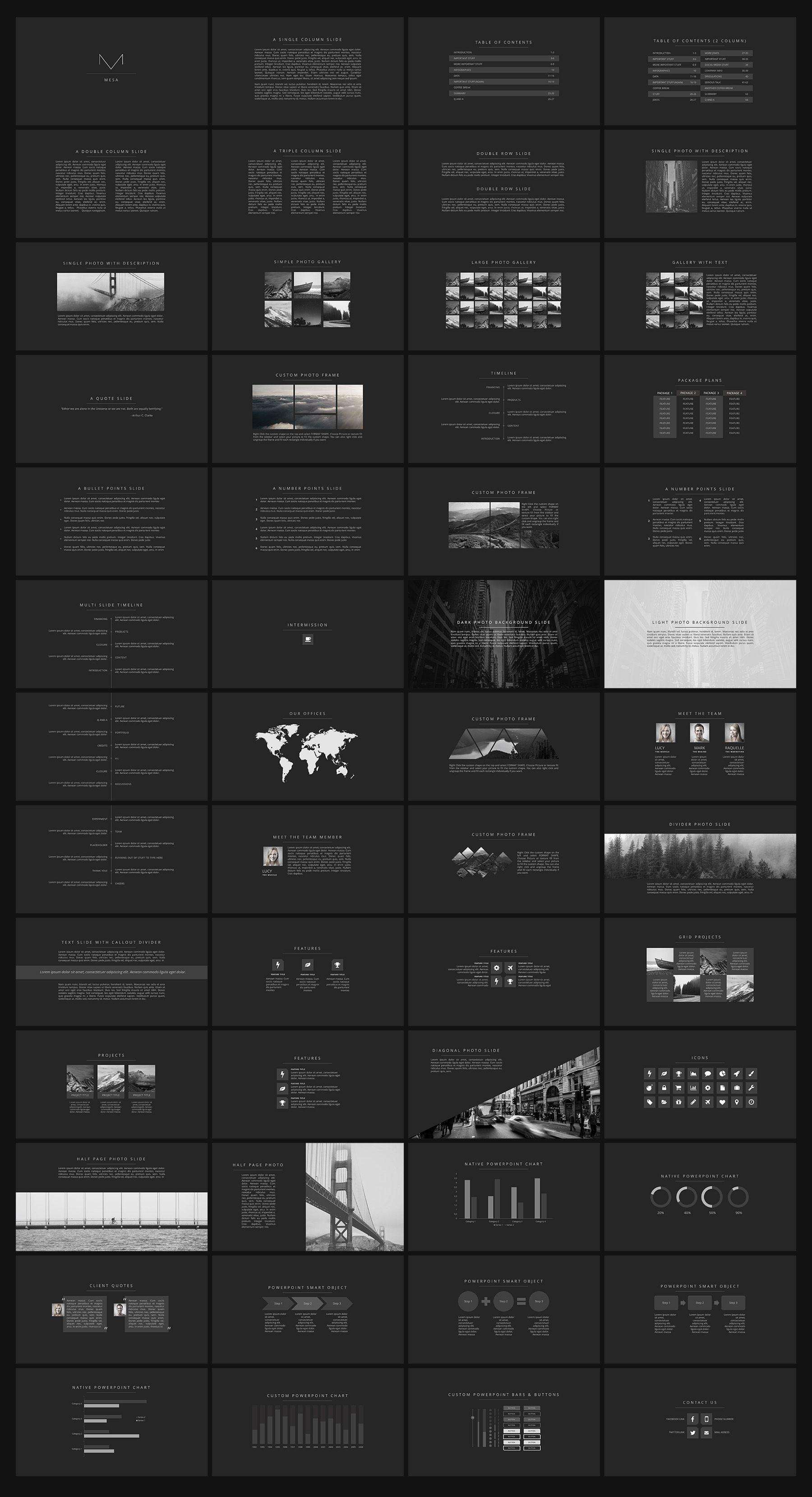 Mesa  Elegant Presentation  Presentation Design Presentation