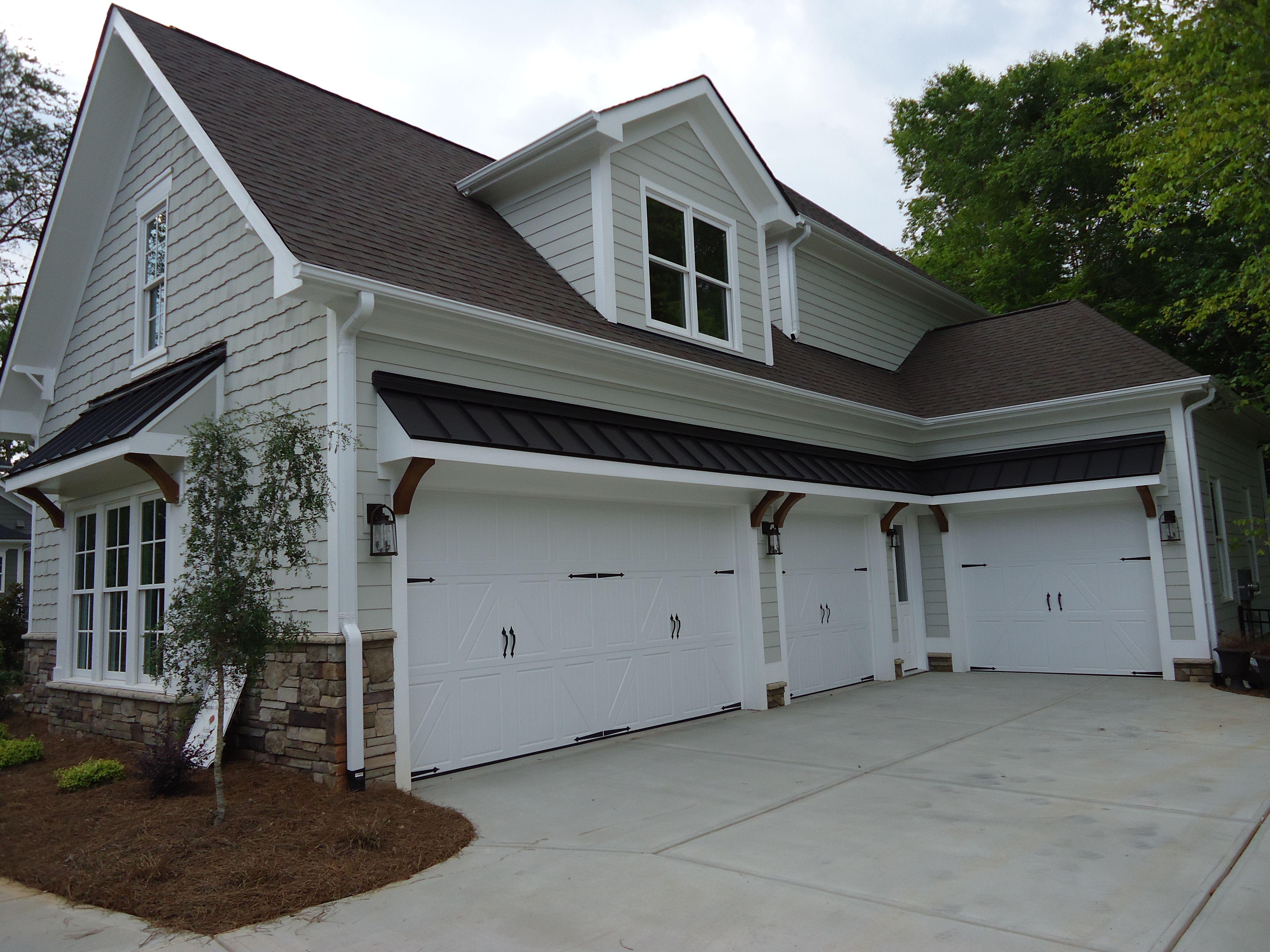 Arh Plan Asheville 1131f Exterior 10 Owens Corning Teak Metal Roof Sentriclad Dark Bronze Soffits Fasc House Exterior White Brick Houses Grey Exterior