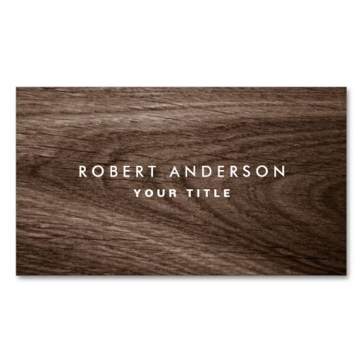Dark wood grain professional profile business card Dark wood - professional profile