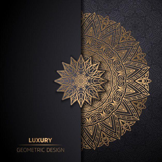 Download Luxury Ornamental Mandala Design Background In Gold Color For Free Design Mandala Ornement Mandala